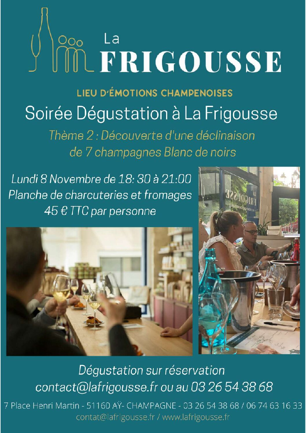 La Frigousse   Lieu d'émotions Champenoises - Soirée dégustation Champagne Blanc de Noirs - pdf pdf - 1